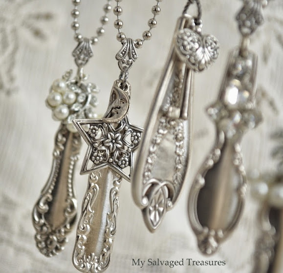 silverware handle necklaces with charms