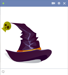 Witch Hat Emoticon for Facebook