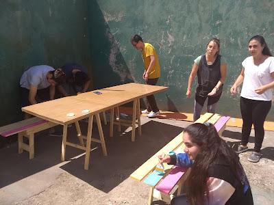 Estudiantes de la Unicen Quequén en Claraz