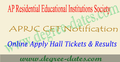 APRJC 2019 notification online apply exam date hall tickets results
