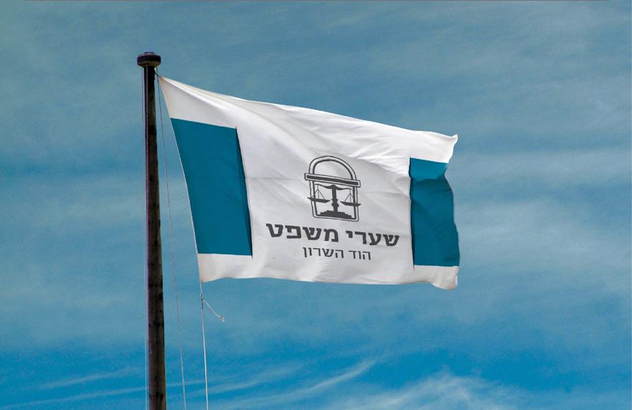 לוגו מכללה על דגל