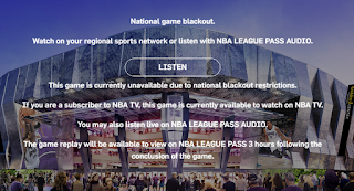 NBA League Pass-Blackout Notice