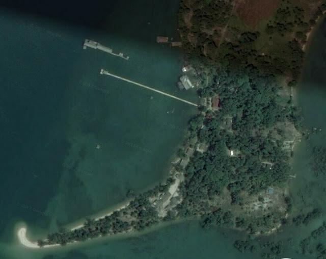 Pulau Tunjuk Batam via Google Satelit