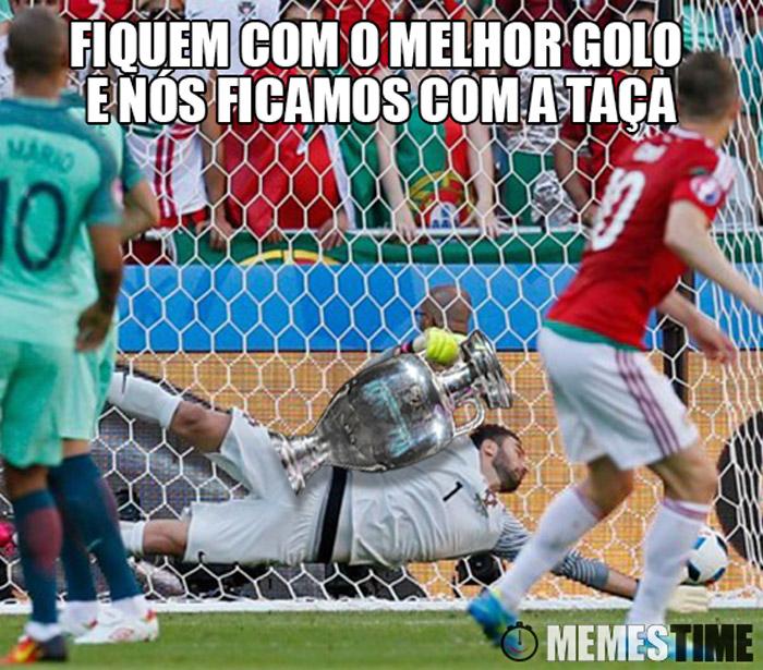 Meme o Melhor Golo do Euro 2016 foi sofrido por Portugal e Rui Patrício – Fiquem com o Melhor Golo que nós ficamos com a Taça