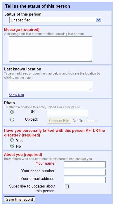 Typhoon Yolanda Person Finder by Google - Find missing