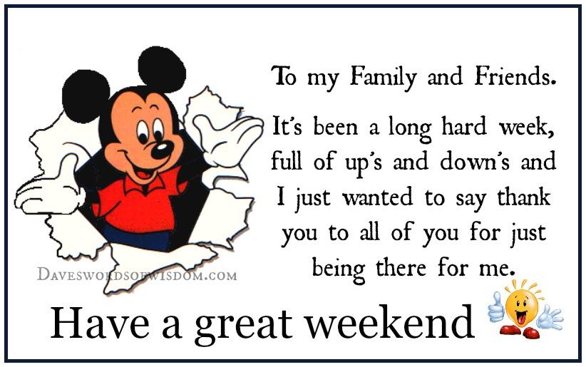 Daveswordsofwisdomcom Wishing You A Great Weekend