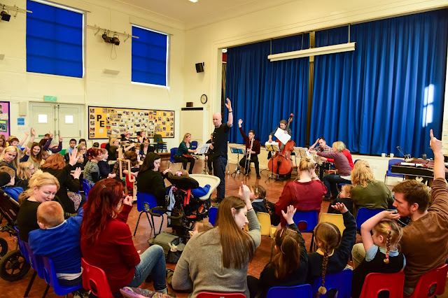 Members of the Royal Philharmonic Orchestra at Sunningdale School, Sunderland. (c) Kev Brady Photography