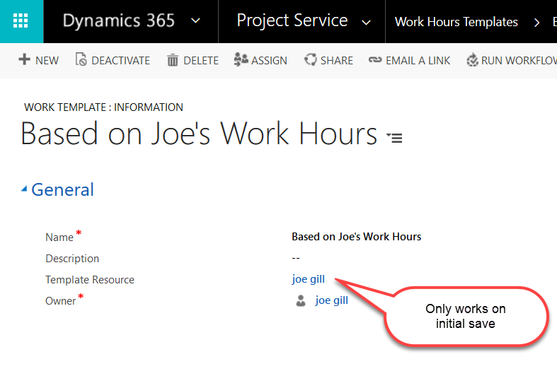 Project Service Automation Work Hours Templates Microsoft