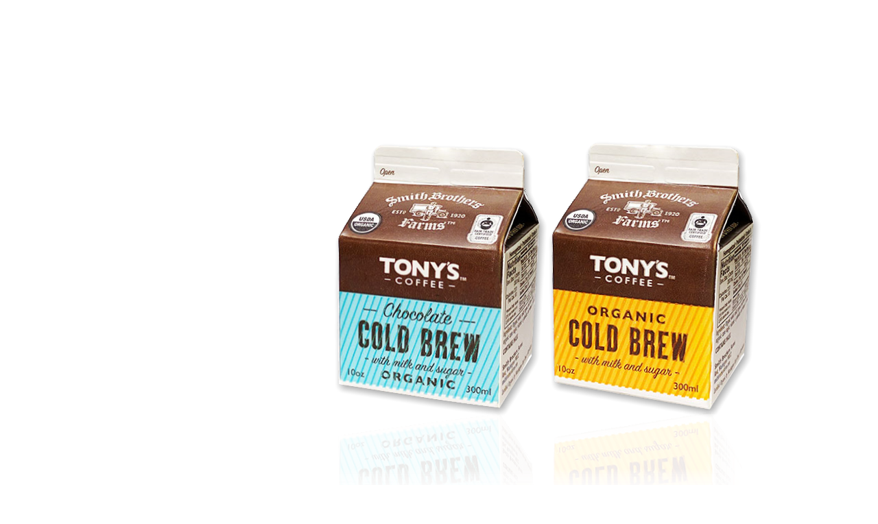 Tonys Cold Brew, Organic Cold Brew with milk