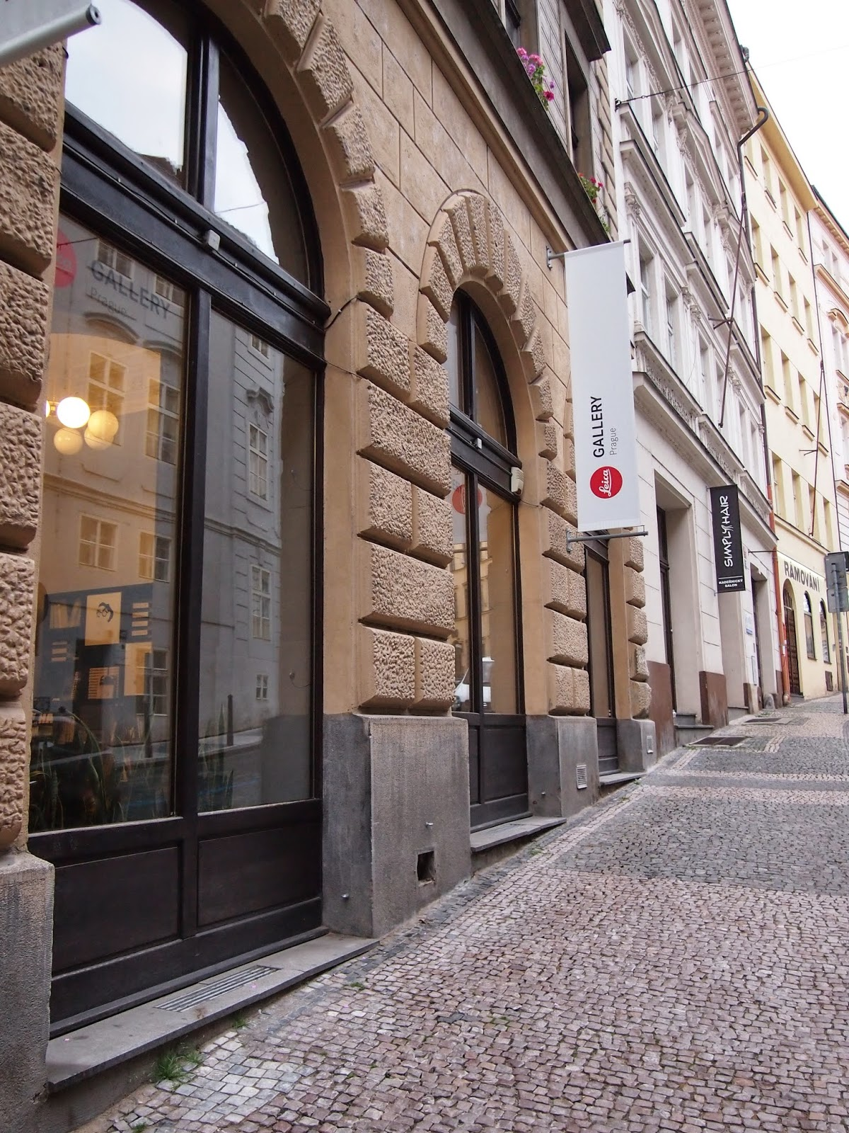The outside of the Leica Cafe in Prague