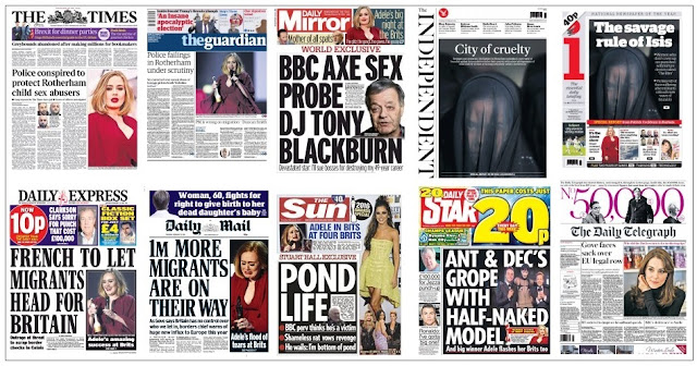 front pages 25-02-16