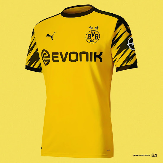 LEAKED: Borussia Dortmund 20-21 Home Kit Design & Possible ...