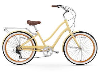 Sixthreezero EVRYjourney Women's Touring Hybrid Cruiser Bicycle, available in cream, navy or teal, image, review features & specifications