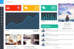 Free Download Template Flat Admin Bootstrap (Gratis)