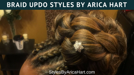 Braid Updo Hair Styles By Arica Hart | Hair Stylist