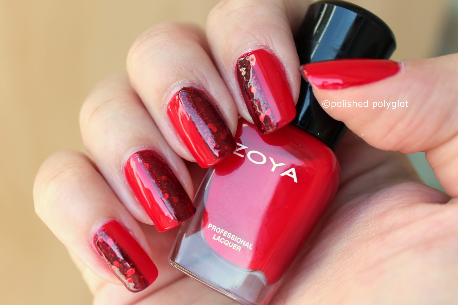 40 Great Nail Art Ideas: Red / Polished Polyglot
