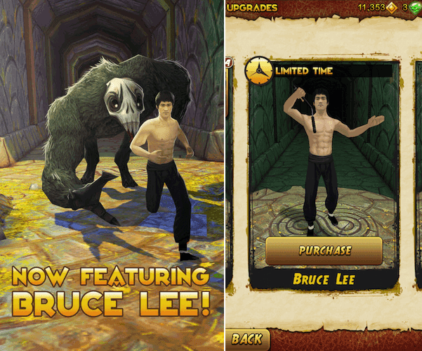 Bruce Lee su Temple Run 2