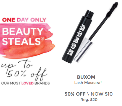 Today's deal is Buxom Lash Mascara for only $10 (reg $20)!