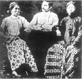 Tiga Serangkai pendiri Indische Partij, terdiri dari Suwardi Suryaningrat, dr. Cipto Mangunkusumo, dan Douwes Dekker.