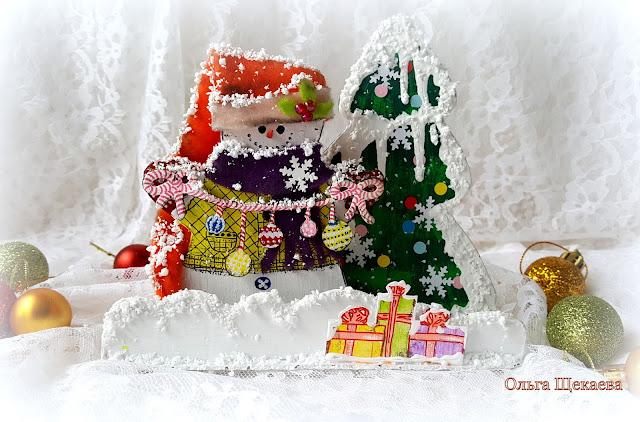 новогоднийдекор, снеговик, ёлка, подарки, новыйгод