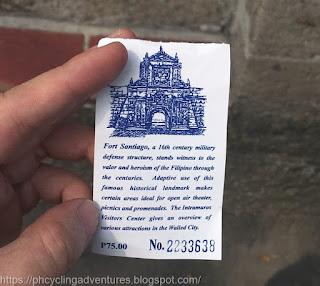 Fort Santiago ticket