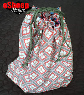 Easiest Ever Drawstring Bag crafted by eSheep Designs