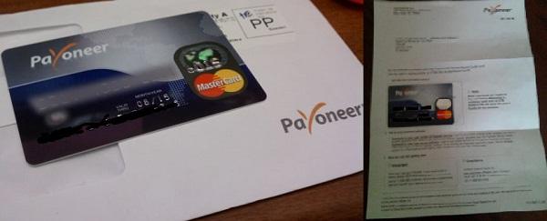 Tarjeta PaYoneer MasterCard