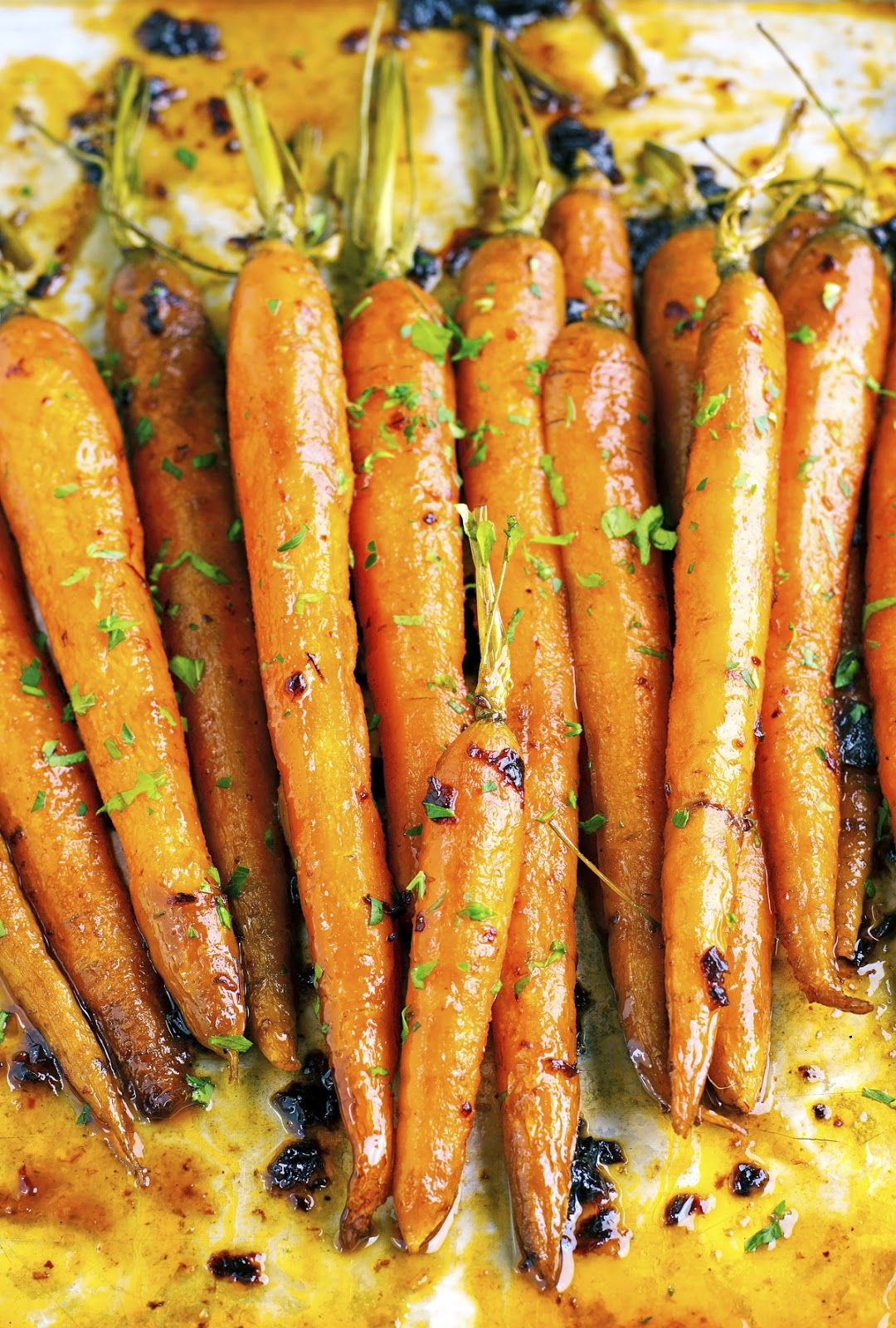 Maple Chipotle Roasted Carrots