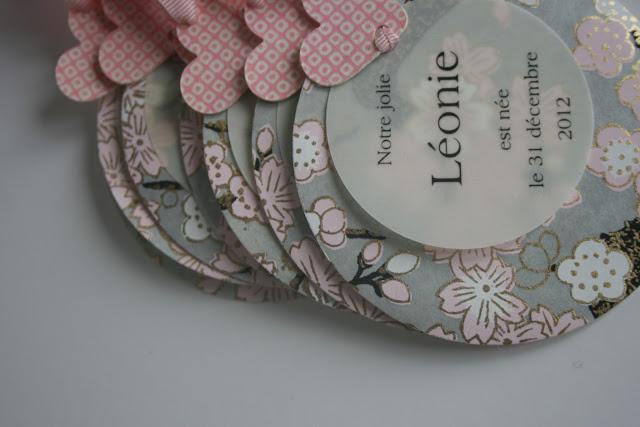 faire-part naissance fille raffiné papier japonais sur mesure raffiné fait main haut de gamme cadeau invité