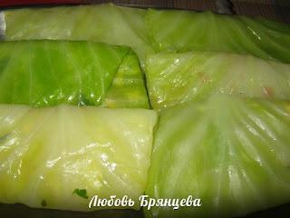 шницель из капустных листьев