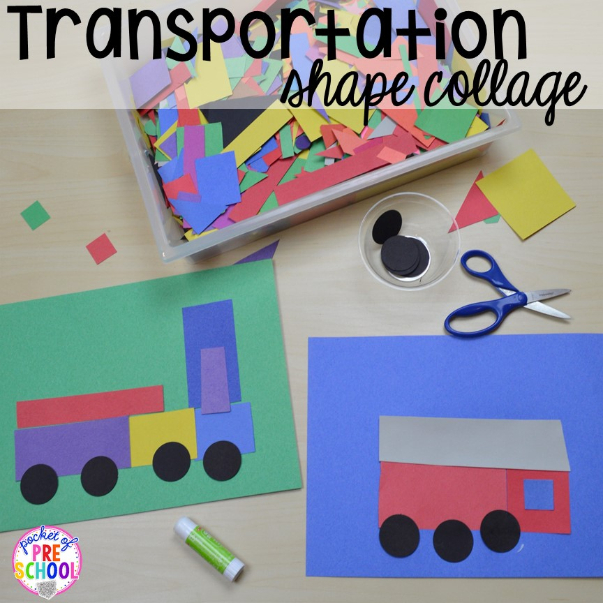 Transportation centers and activities road number mat for Transportation crafts for preschoolers