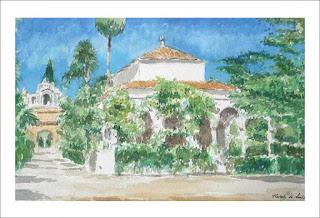 Cuadro de los Reales Alcázares de Sevilla