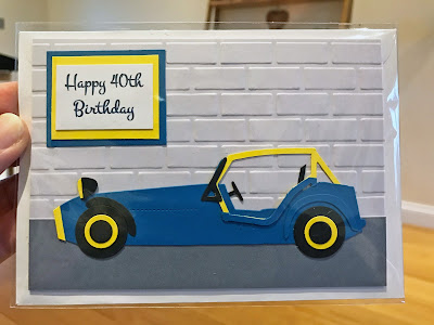Handmade Caterham 40th Birthday Card
