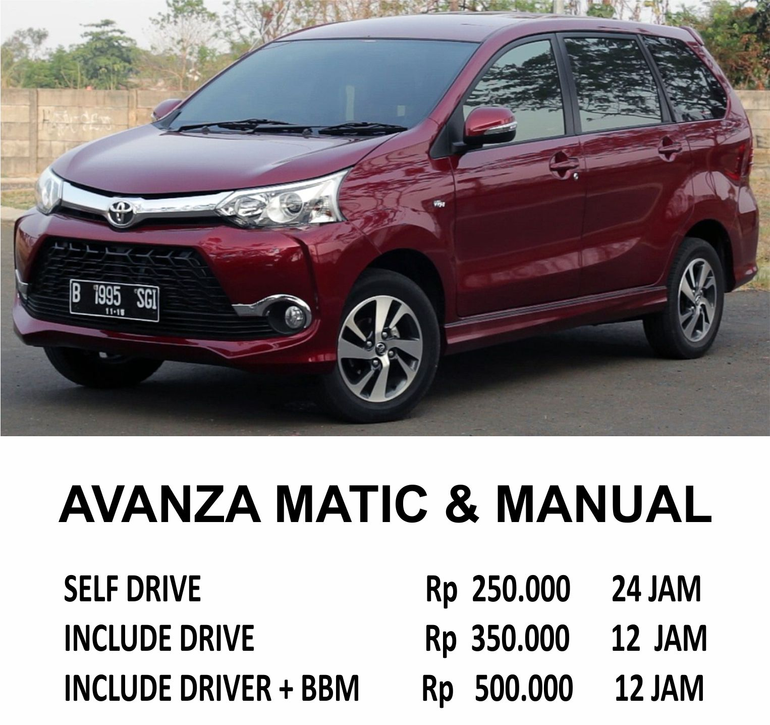 konsumsi bbm grand new avanza 2018 cover ban serep sewa mobil toyota belitung rekreasi acara resmi