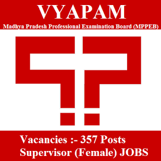 Madhya Pradesh Professional Examination Board, MPPEB, VYAPAM, MP, Madhya Pradesh, Supervisor, Graduation, freejobalert, Sarkari Naukri, Latest Jobs, vyapam logo
