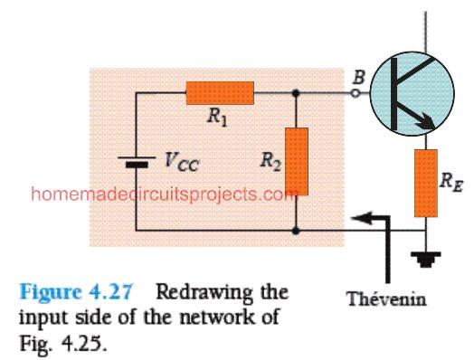 Thévenin equivalent for BJT voltage divider network