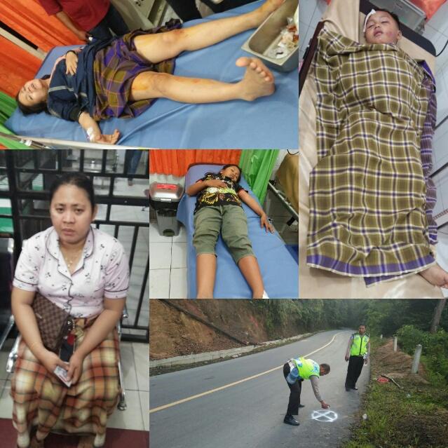 Korban Laka saat dibawa ke Puskesmas dan RSU FL Tobing Sibolga