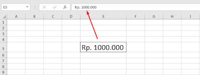 Cara membuat simbol mata uang di Excel