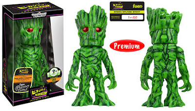 Emerald City Comicon 2016 Exclusive Guardians of the Galaxy Green Grunge Groot Hikari Sofubi Vinyl Figure by Funko
