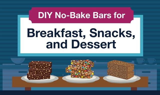 DIY no-bake bars for breakfast, snack, and dessert