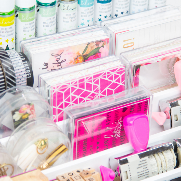 How to organize planner supplies by @createoften