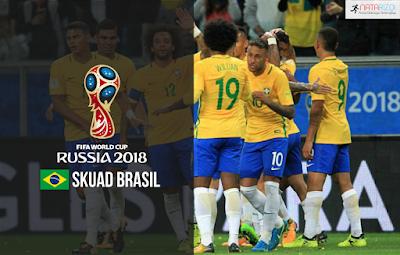 Skuad Susunan Pemain Brasil di Piala Dunia 2018