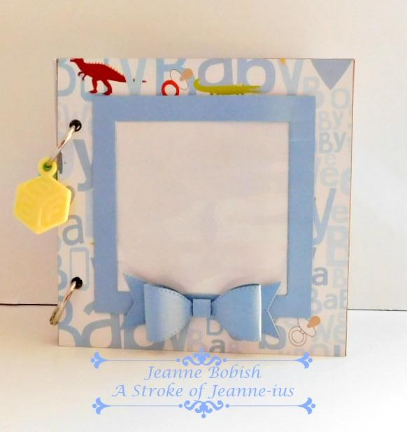 a stroke of jeanne ius baby boy mini journal scrapbook photo album