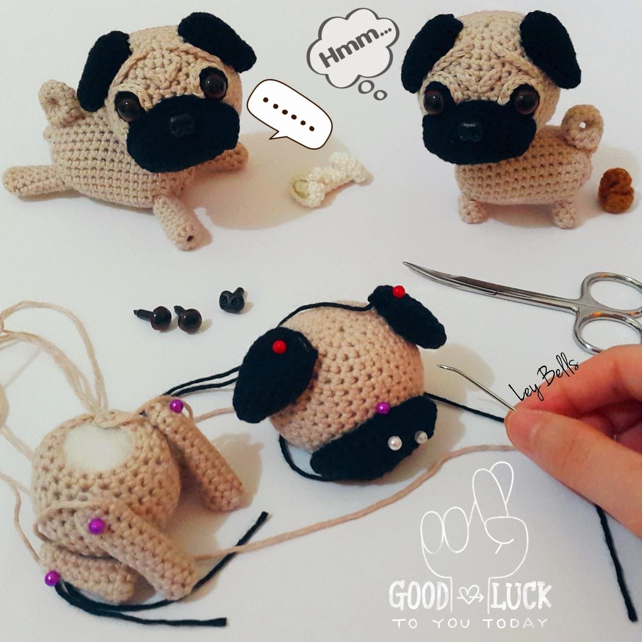 crochet pug amigurumi cute dog plush by mohustore on Etsy ... | 1280x1280