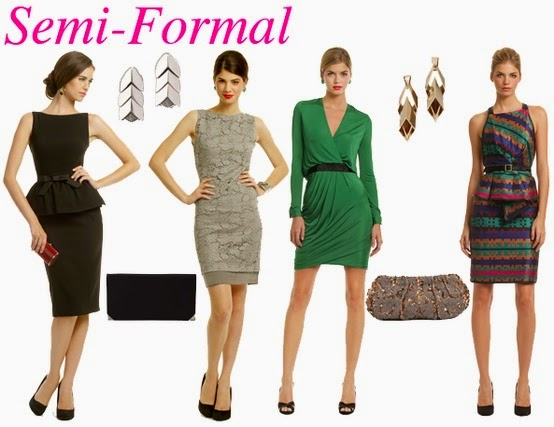 Picture source from http   glambistro.com wp-content uploads 2012 09 Semi- formal-attire.jpg. The third dress from the left might be a little too  short. 4407a5419