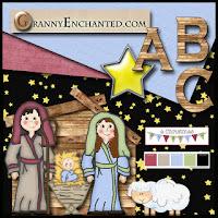 kit descargable gratis de navidad con nacimeinto