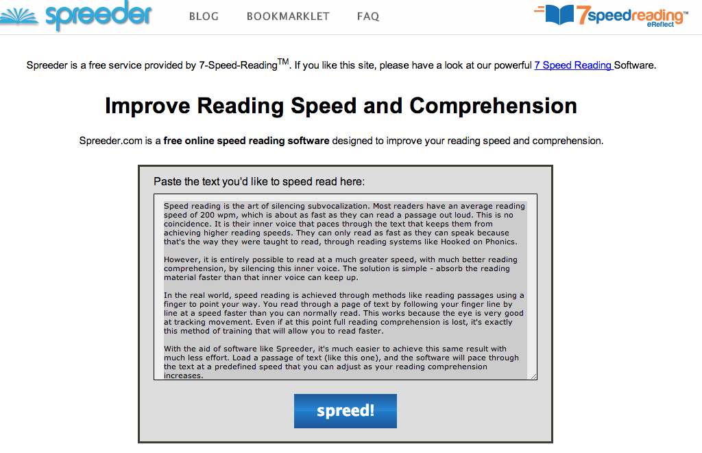 The Official SCBWI Blog: Speed Reading Apps    Are they the
