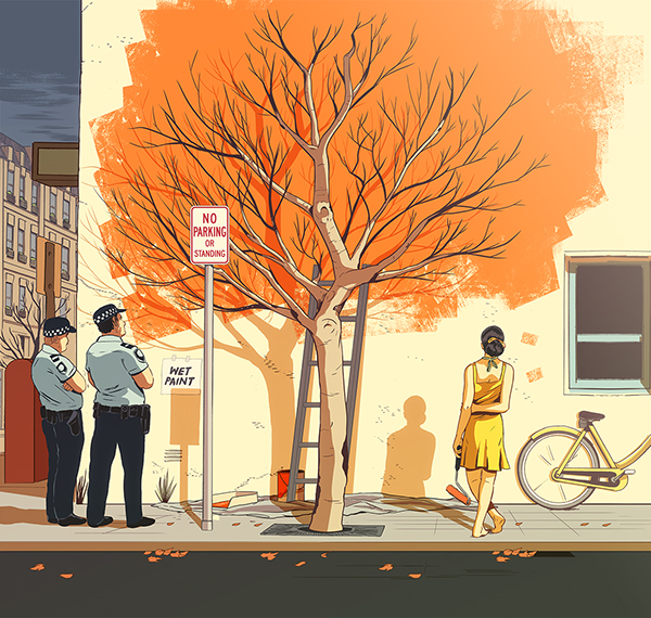 Autumn Forever (2014) by Guy Shield | ilustraciones imaginativas, imagenes bonitas, illustration art, cool stuff.
