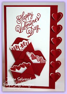 The Great Card Swap, Valentine Card, Sealed with love stamp set, Love Notes framelit dies, Real Read cardstock and ink