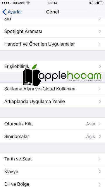 iPhone Uygulamaları Gizleme